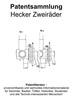 Thumbnail Hecker Zweiräder - Entwicklungen Zeichnungen Skizzen Patente