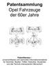 Thumbnail Opel Fahrzeuge der 60er Jahre - Technik Beschreibung Skizzen