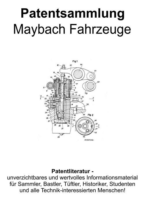Pay for Maybach Fahrzeuge - Technik Entwicklungen Zeichnungen Patent
