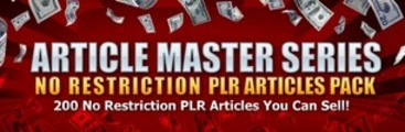 Thumbnail No Restriction PLR Articles Pack: Vol 25 +BONUSes!