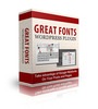 Thumbnail  Great Fonts Wordpress Plugin
