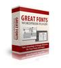 Thumbnail  Great Fonts Wordpress Plugin