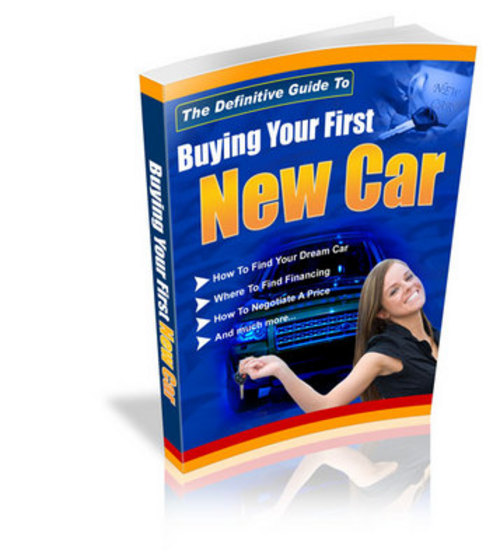 Pay for Buying Your First Car with PLR