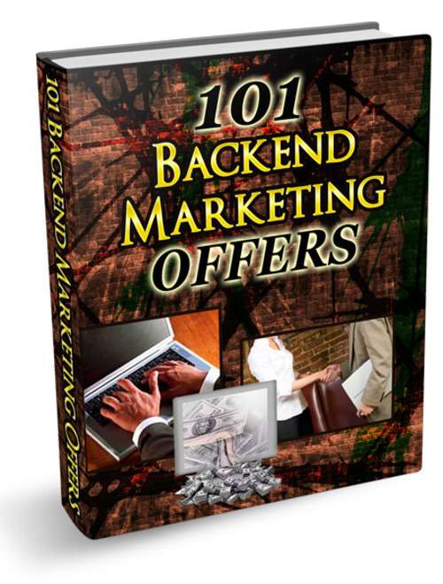 Pay for 101 Backend Marketing offers + PLR rights + 2 bonus ebooks