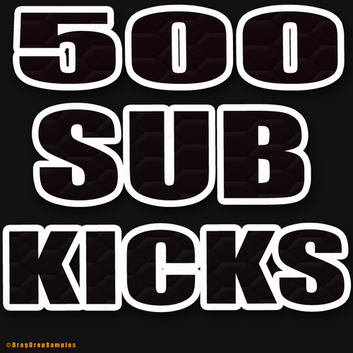 Pay for 500 Sub Kicks Drums Electro Hip Hop Hardstyle house wav kick