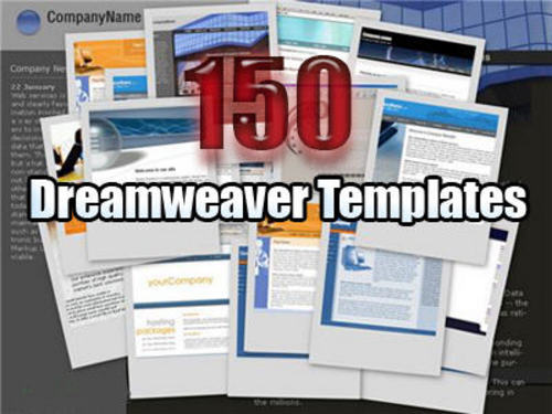 free professional dreamweaver templates - 150 dreamweaver templates with master resale rights