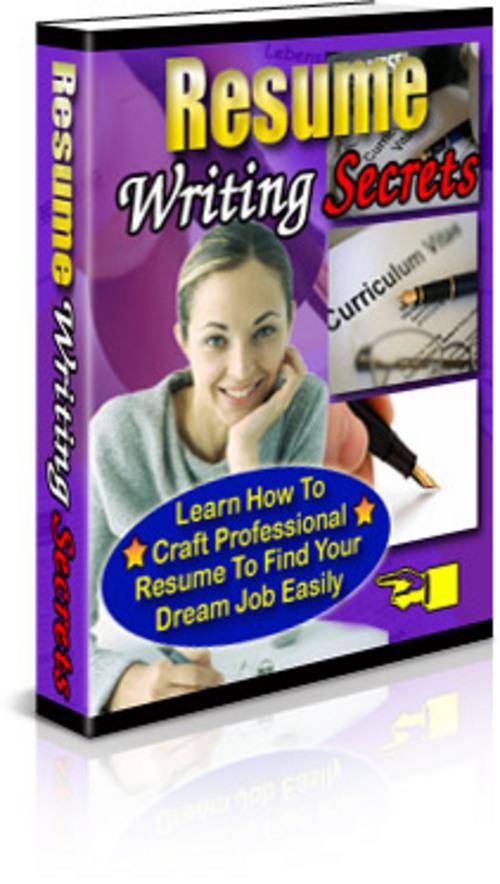 Pay for Resume Writing Secrets Reseller