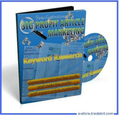 Pay for Big Profit Article Marketing (MRR) - Ebooks & Video Series