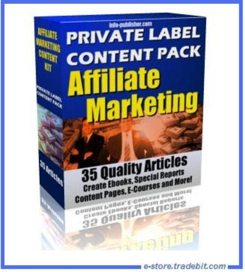 Pay for Private Label Content Pack Affiliate Marketing