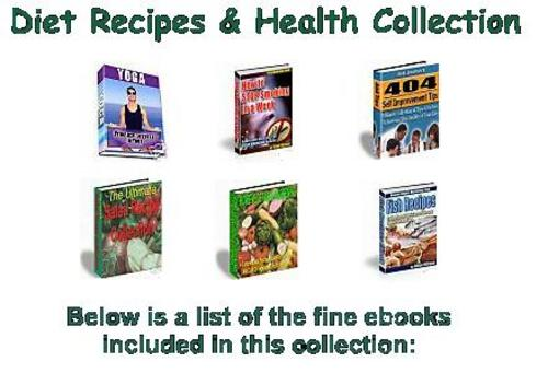 Pay for Diet Recipes & Health Collection eBooks