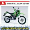 Thumbnail KAWASAKI KLX 250 250R 1993-1996 BIKE WORKSHOP SERVICE MANUAL
