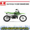 Thumbnail KAWASAKI KLX110 KLX 110 2001+ BIKE REPAIR SERVICE MANUAL