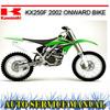 Thumbnail KAWASAKI KX250F 2002+ BIKE WORKSHOP REPAIR SERVICE MANUAL