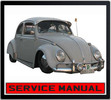 Thumbnail VW BEETLE 1200 TYPE 1961-1965 WORKSHOP SERVICE MANUAL