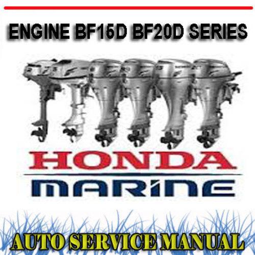 Honda Outboard Engine Bf15d Bf20d Workshop Service Manual