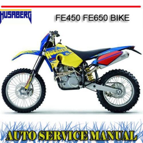 husaberg fe450 fe650 bike workshop repair service manual download rh tradebit com Operators Manual Corvette Owners Manual