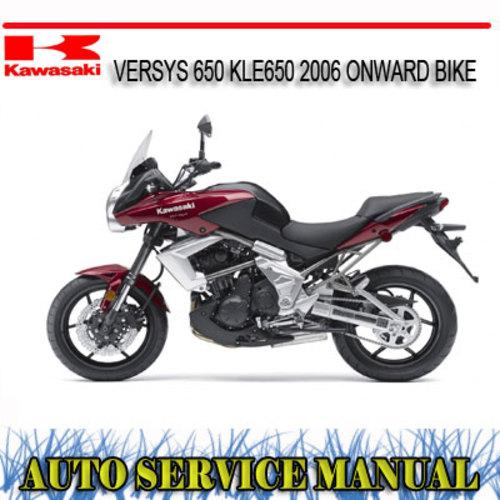 Pay for KAWASAKI VERSYS 650 KLE650 2006+ BIKE REPAIR SERVICE MANUAL