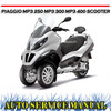 Thumbnail PIAGGIO MP3 250 MP3 400 SCOOTER WORKSHOP SERVICE MANUAL