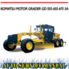 Thumbnail KOMATSU MOTOR GRADER GD 555 655 675 3A WORKSHOP MANUAL