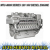 Thumbnail MTU 4000 SERIES 12V 16V DIESEL ENGINE WORKSHOP MANUAL