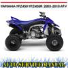 Thumbnail YAMAHA YFZ450 YFZ450R 2003-2010 ATV WORKSHOP SERVICE MANUAL