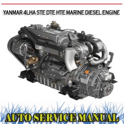 Yanmar 4lha ste dte hte marine diesel engine workshop manual down.
