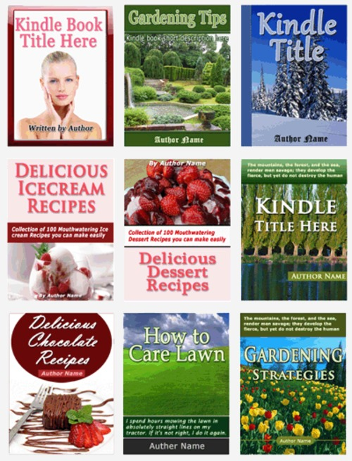 Pay for Kindle book templates in .psd format