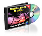 Natural Sounds: Tropical Beach At Sunset Mp3 Audio with Master Resale Rights