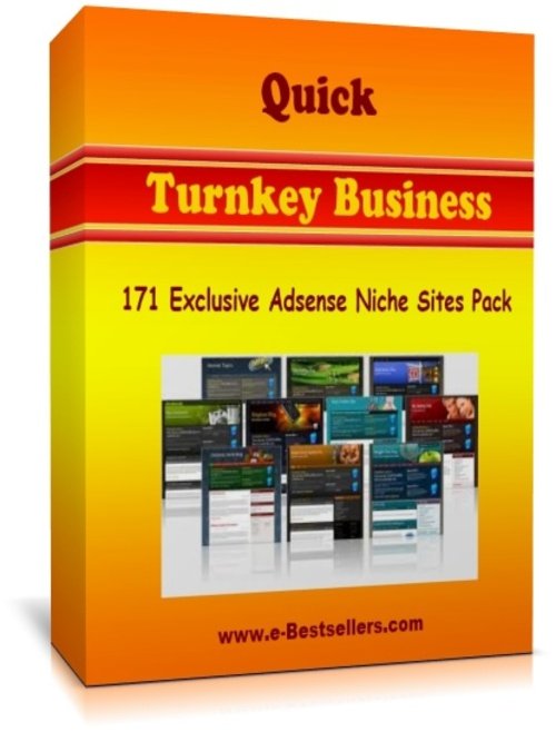 Pay for Quick Turnkey Business: 171 Exclusive Adsense Niche Sites