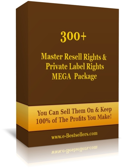 Pay for 300+ Master Resell Rights & Private Label Rights  Package