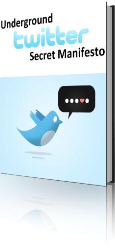 Pay for Underground Secret Twitter Manifesto