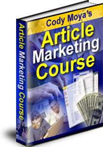 Pay for Cody Moya's Article Marketing Course
