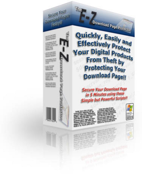 Pay for E-Z Download Page Protector - MRR - Sales Website