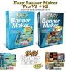 Thumbnail Easy Banner Maker Pro V1 & V2 + MRR Lizenz , Grafik , Design