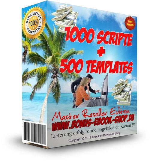 Pay for 1000 Scripte + 500 Templates + MRR Lizenz , Flash , Java