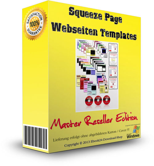 Pay for  Squeeze Page Webseiten XXL Pack + MRR Lizenz