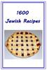 Thumbnail 1600 Jewish Recipes