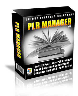 Pay for PLR Manager (Master Resale Rights included)