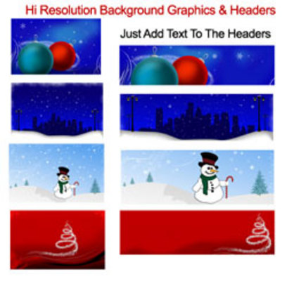 Pay for Christmas Header Package (MRR)