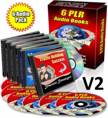 Pay for Pack of 6 PLR Audio eBooks