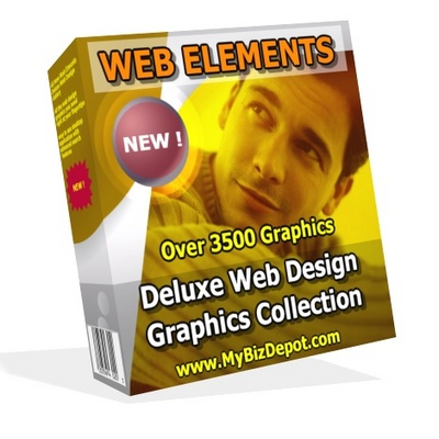 Pay for WEB ELEMENTS Deluxe Web Design Graphics Collection