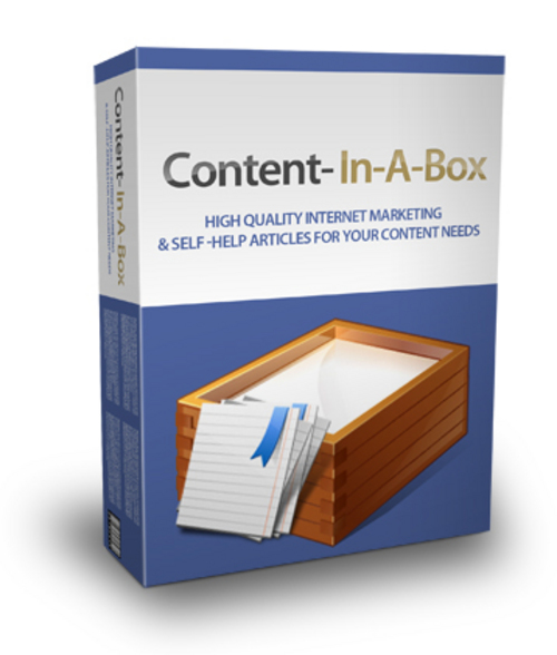 Pay for Content In A Box - 52 High Quality Internet Marketing & Self