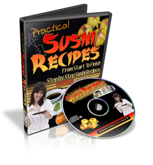 Pay for Sushi Recipes Without Raw Fish, Ebooks and Videos, 1.3GB