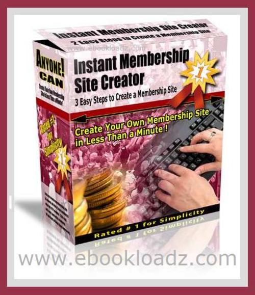 Pay for *NEW* Instant Membership Site Creator - Create Your Own Residual Income Profit Producing Membership Site In Less Than a Minute + MASTER RESELL RIGHTS !!