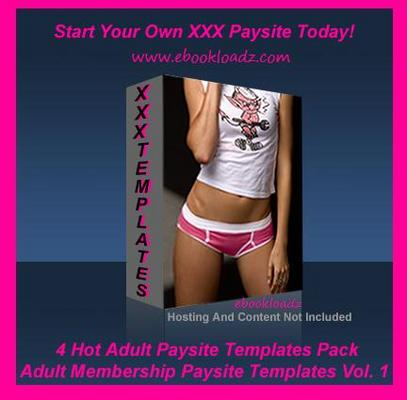 Pay for Adult Membership Paysite Templates V.1 Master Resell Rights