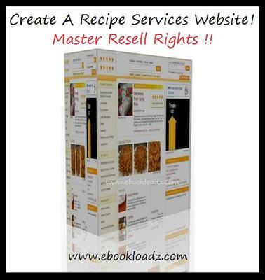Pay for Recipe Sales Website With Master Resell Rights !! NEW