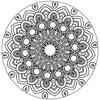 Thumbnail Mandala Adult Coloring Book Page, Printable