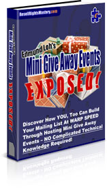 Thumbnail Mini Give Away Events EXPOSED!
