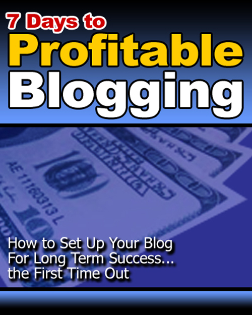 Thumbnail 7 Days to Profitable Blogging