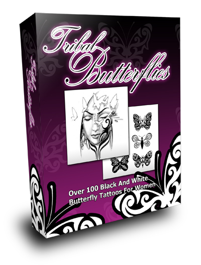 Thumbnail TribalButterflyTattoos|  Over 100 Black And White Butterfly